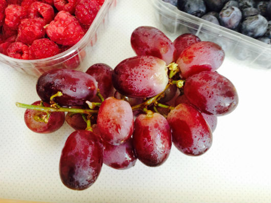 Rote-Trauben: enthalten OPC (Antioxidantien) / sekundäre Pflanzenstoffe