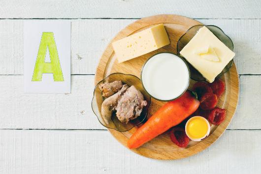 Vitamin-A-Vorkommen in Lebensmitteln