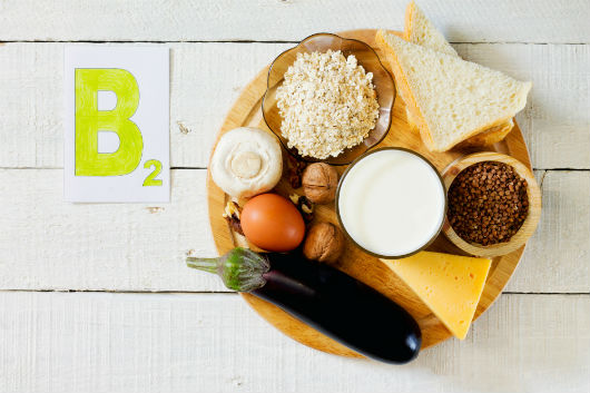 Vitamin-B2-Vorkommen in Lebensmitteln